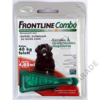 Frontline Combo Kutya XL – Bolha és kullancs ellen
